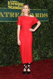 Laura Carmichael At London Evening Standard Theatre Awards at Theatre Royal in London, England
