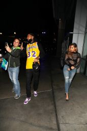 Lauren London Spotted leaving the Lakers vs. Timberwolves game in Los Angeles