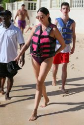 Lauren Silverman Hits the beach and enjoys another jet ski ride while on holiday in Barbados