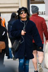 Lea Michele Is pictured out on a stroll in New York City