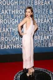 Lily Collins At 2018 Breakthrough Prize in Mountain View