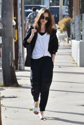 Lily Collins Steps out for lunch in West Hollywood