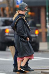 Lily James Out on a stroll with Matt Smith in NYC