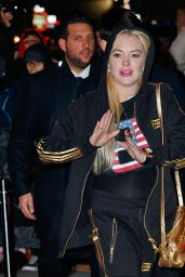 Lindsay Lohan Arriving at Madison Square Garden for the Jingle Ball concert, NY