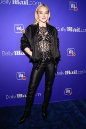 Lindsay Lohan At Daily Mail TV Unwrap The Holidays in New York
