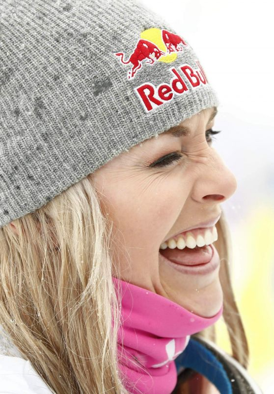 Lindsey Vonn At Alpine Skiing - FIS World Cup, Super G, France