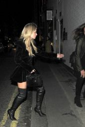 Lottie Moss Leaves The Connaught Hotel in Mayfair, London