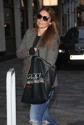 Louise Rednapp Arrives at the theatre in Brighton for her show