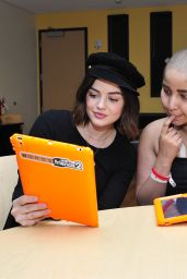 Lucy Hale At Words With Friends 2 Spread Holiday Cheer at Children`s Hospital in LA