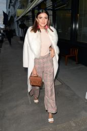 Lucy Mecklenburgh Leaves Isabel restaurant in London