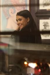 Madison Beer Gets a tattoo on her ankle at a tattoo shop on Santa Monica Blvd