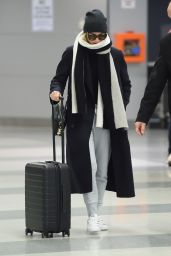 Margot Robbie Arrives at JFK airport in NYC