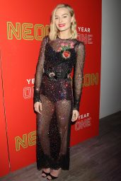 Margot Robbie At The First Annual Neon Holiday Party Hosted by Margot Robbie and Allison Janney, New York