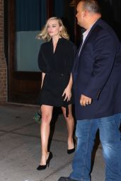 Margot Robbie Leaves her hotel in New York City