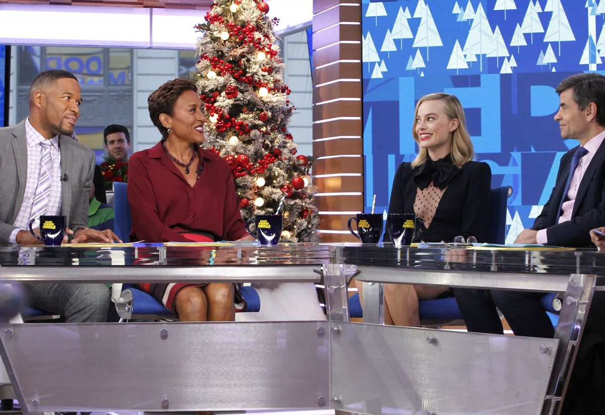 Good Morning America Nyc : Margot robbie visits 'good morning america in new york