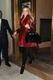 Mariah Carey Seen leaving her apartment in New York City