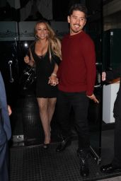 Mariah Carey Spotted drawing a crowd during a dinner date at Mr. Chow in Los Angeles
