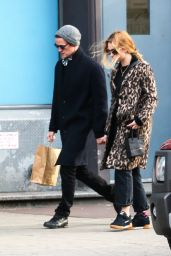 Matt Smith and Lily James are pictured holding hands while out shopping in New York City