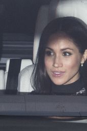 Meghan Markle Attends a Christmas lunch for the extended Royal Family at Buckingham Palace in London