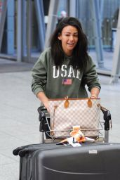 Michelle Keegan Looks fresh faced and in good spirits as she