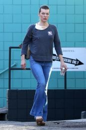 Milla Jovovich Heading to a spa in West Hollywood