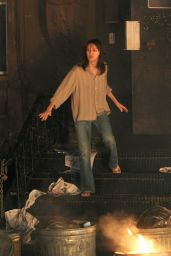Naomi Watts Sports a brunette wig while filming her latest movie project,