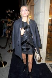 Natasha Poly At Versace Boutique Opening on Sloane Street on December 5, 2017 in London, England