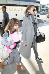 Nicole Richie And daughter Harlow at LAX International Airport