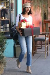 Olivia Culpo Goes Christmas shopping at Espionage in LA