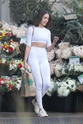 Olivia Culpo Shops at Whole Foods looking fresh in all white in Venice