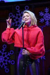 """Olivia Holt Performs onstage during the """"Live at the Atrium"""" Holiday Concert Series in Century City"""