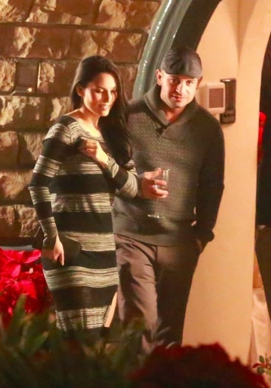 Olivia Munn Is spotted exiting the Seth MacFarlane holiday party in Beverly Hills