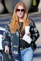 Patsy Palmer Grabs a morning coffee in Malibu