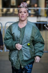Pink Is seen outside the BBC Radio 1, London