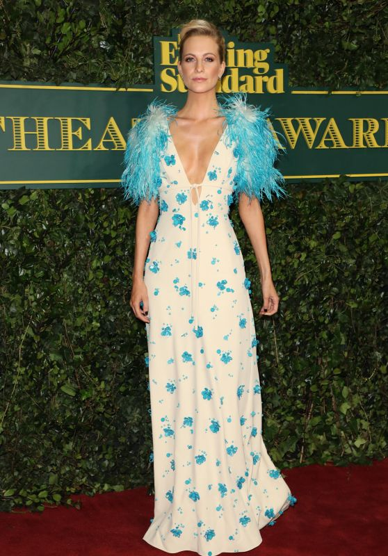 Poppy Delevingne At London Evening Standard Theatre Awards at Theatre Royal in London, England