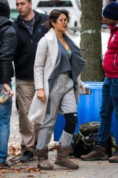 Priyanka Chopra On the Set of