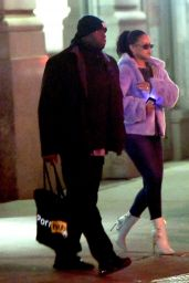 Rihanna Out in Soho late Thursday night and leaving The Blond Hotel Friday morning
