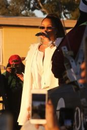 Rihanna Performing at the TDE Annual Christmas Concert in Watts