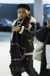 Rita Ora Spotted at JFK Airport with her sister Elena in NYC