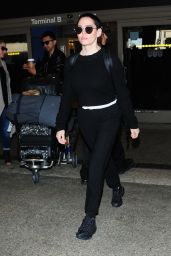 Rose McGowan Seen at LAX International Airport in Los Angeles