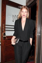Rosie Huntington-Whiteley Leaving the Madeo restaurant in West Hollywood