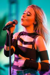 Sabrina Carpenter At 2017 Y100 Jingle Ball Daytime Village at BB&T Center in Sunrise