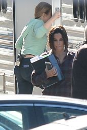 Sandra Bullock On the set of