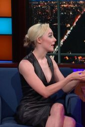 Saoirse Ronan Cleavage at Late Show with Stephen Colbert