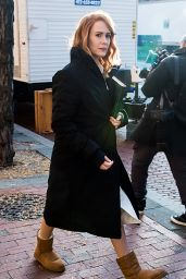 Sarah Paulson Filming on the set of