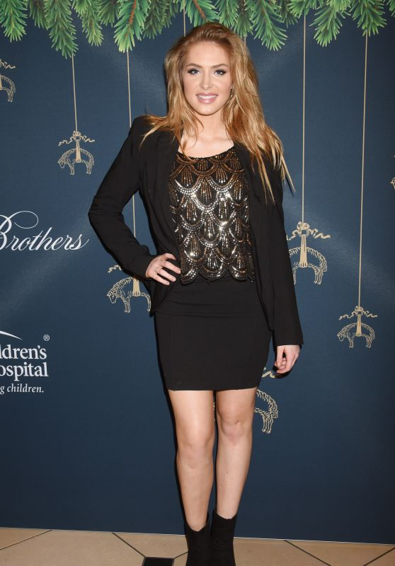 Saxon Sharbino At Brooks Brothers Holiday Celebration with St Jude Children