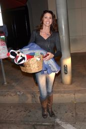 Shannon Elizabeth Leaving Craigs after attending the Children Mending Hearts poker fundraiser, West Hollywood