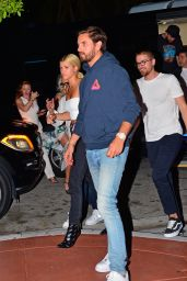 Sofia Richie and boyfriend Scott Disick are seen arriving with friends to LIV nightclub, Miami