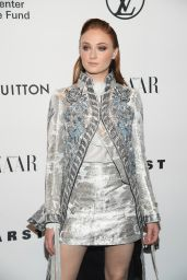 Sophie Turner At An Evening Honoring Louis Vuitton and Nicolas Ghesquiere in NYC