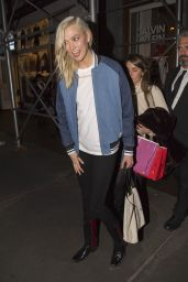 Supermodel Karlie Kloss keeps things casual in denim bomber jacket and super-skinny jeans,NYC
